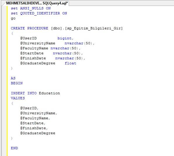 Oracle sql procedure exec