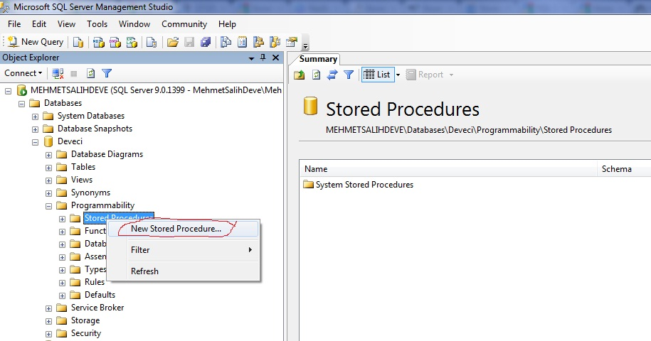 how to create data dictionary in sql server 2005