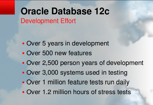 Oracle 12c Effort
