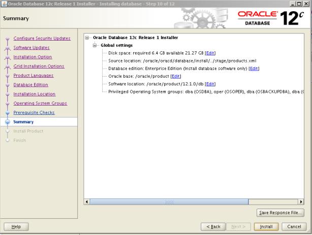 Oracle 12c Kurulum 11