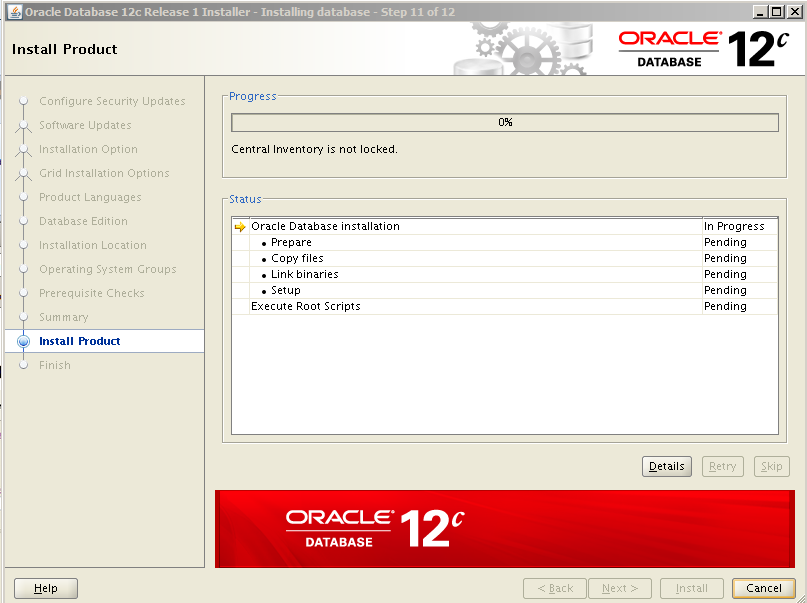 Oracle 12c Kurulum 12