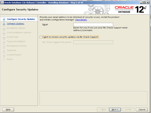 Oracle 12c Kurulum 2