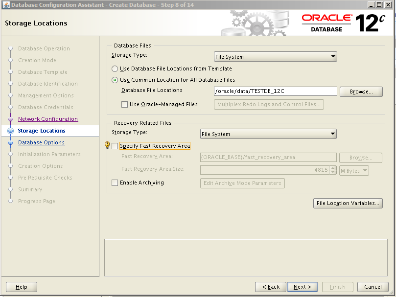 Oracle 12c Kurulum 30