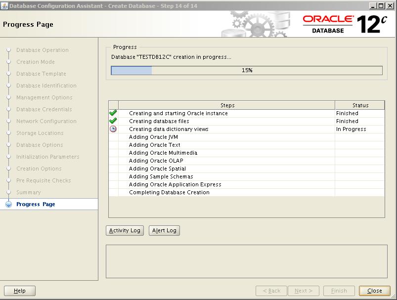 Oracle 12c Kurulum 39