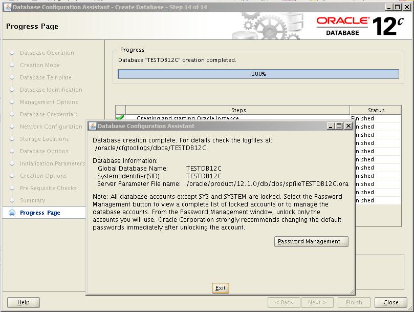 Oracle 12c Kurulum 40