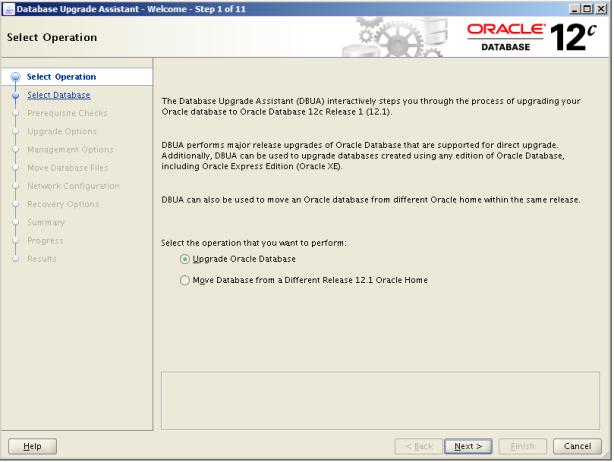 Oracle 12c Upgrade 1