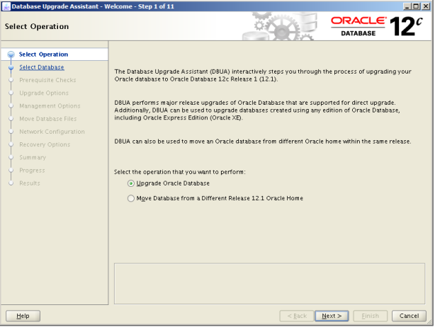 Oracle 12c Upgrade 1