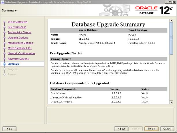 Oracle 12c Upgrade 10