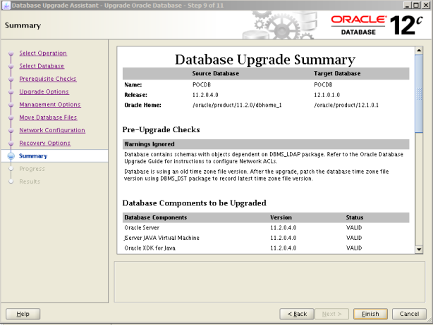 Oracle 12c Upgrade 10