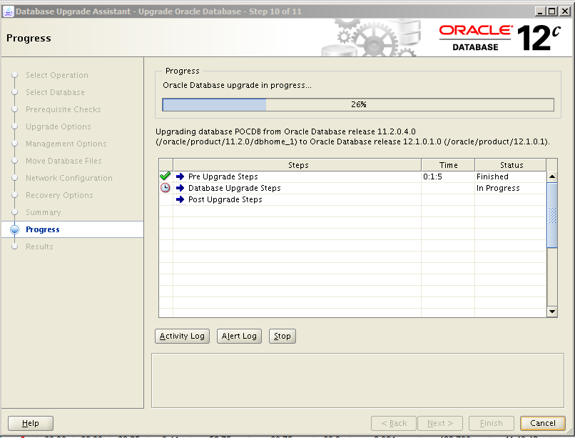 Oracle 12c Upgrade 11
