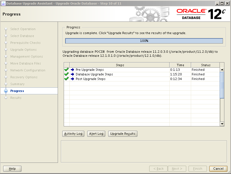 Oracle 12c Upgrade 12