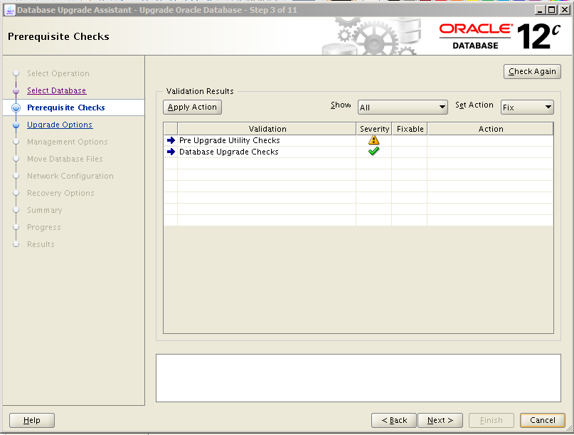 Oracle 12c Upgrade 3