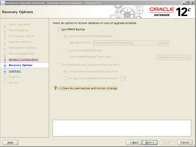 Oracle 12c Upgrade 9