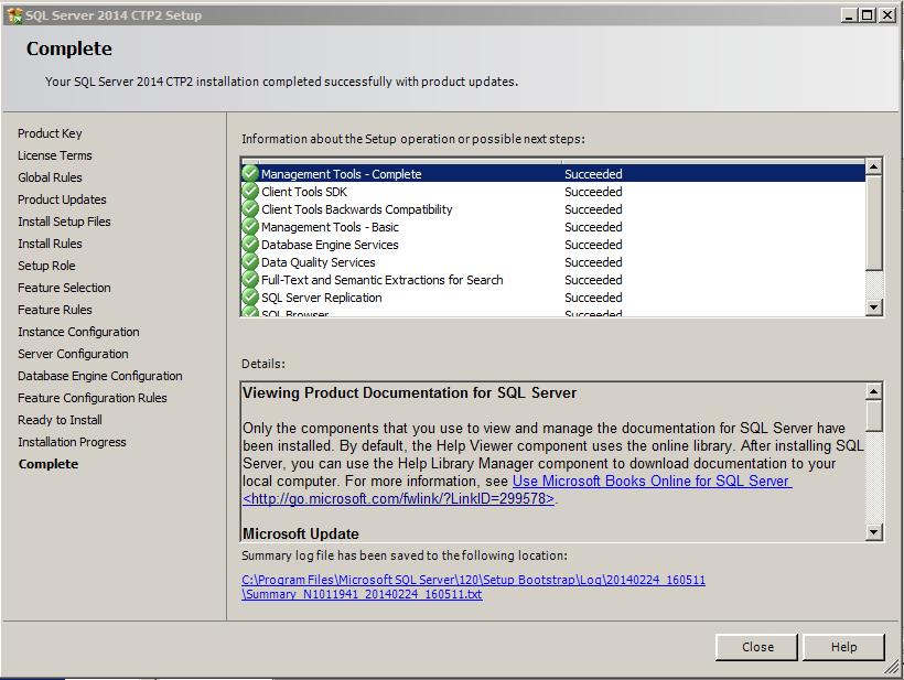 SQL Server 2014 -16
